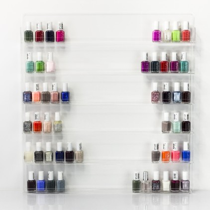 Acrylic nail varnish display stand