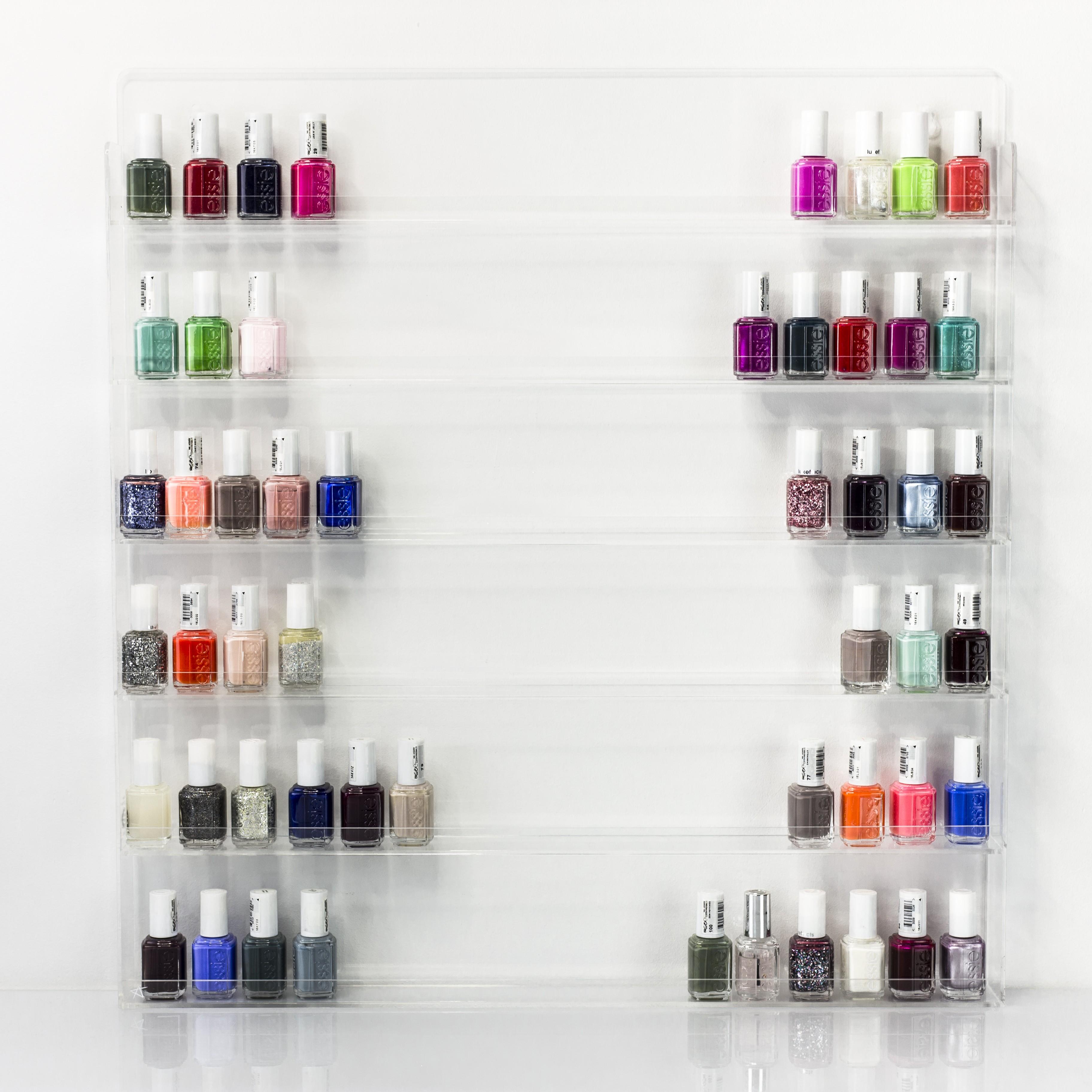 Acrylic nail varnish display stand