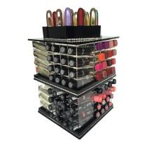MEGA - Tour de rangement Noire pour rouge à lèvres