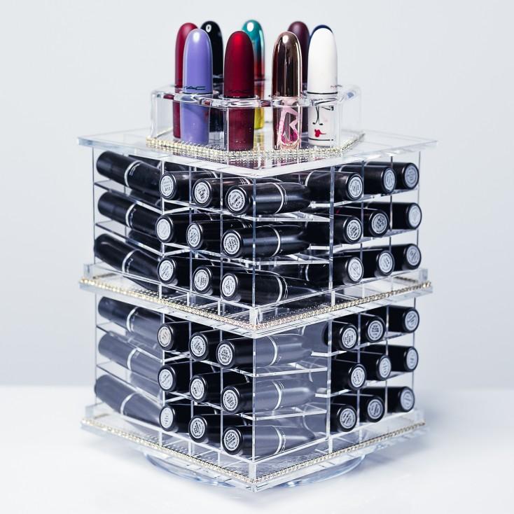 ORIGINAL - Tour de rangement Transparente pour rouge à lèvres