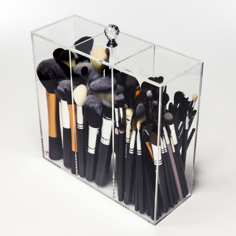 brush holder with lid. Black Bedroom Furniture Sets. Home Design Ideas
